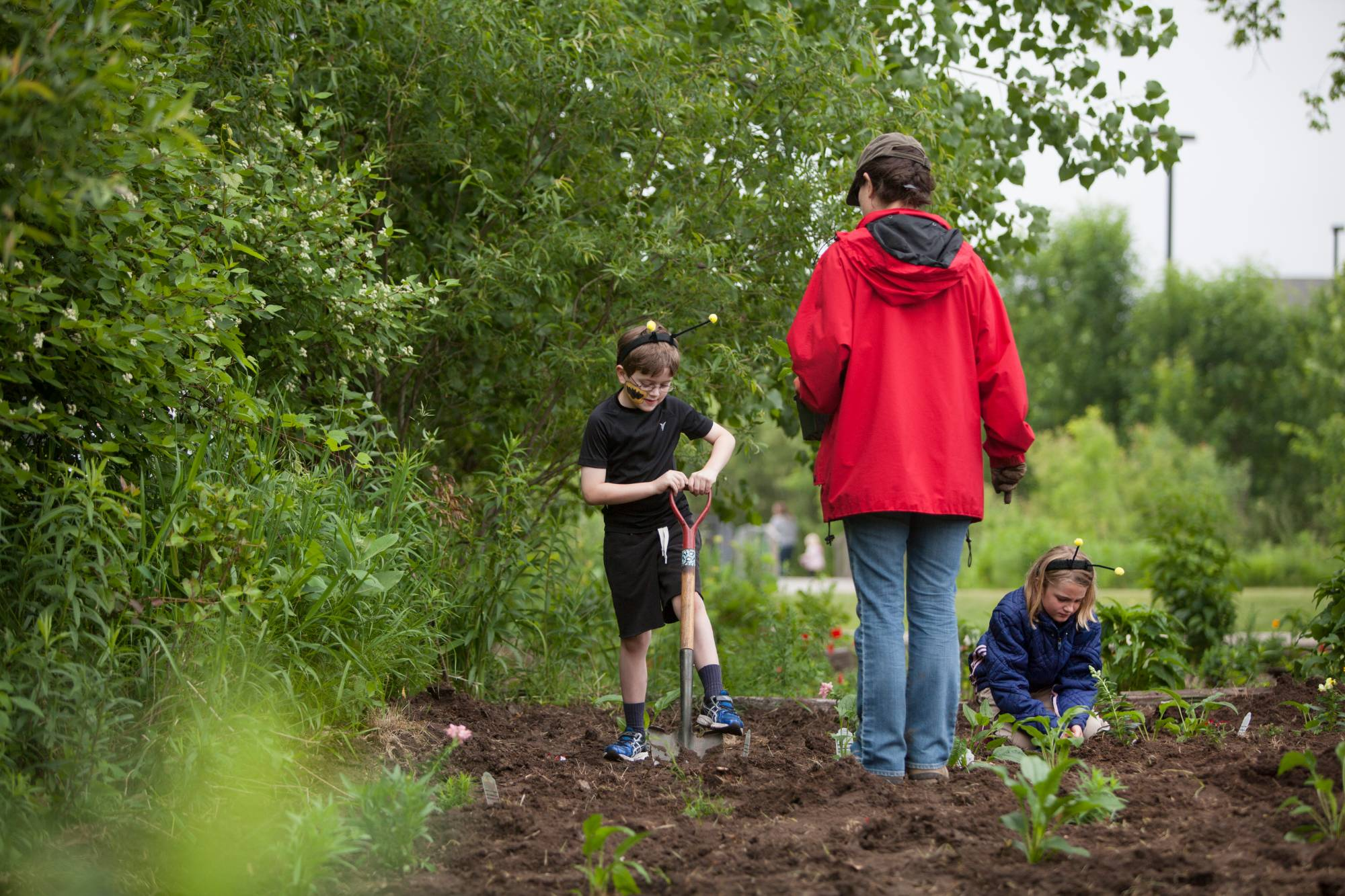Local elementary students spend their field day helping out at the farm.